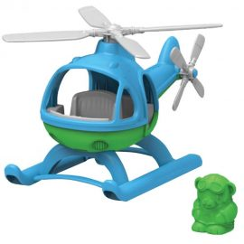 Helicopter Blue Top Green Toys